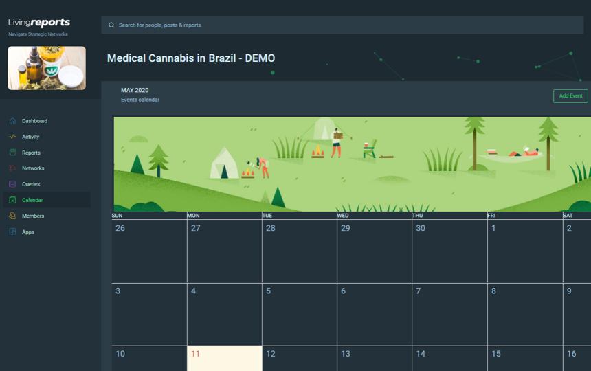 Events Calendar   LivingReports